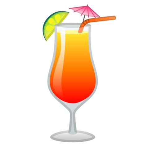 drink emoji bebida tropical emoji