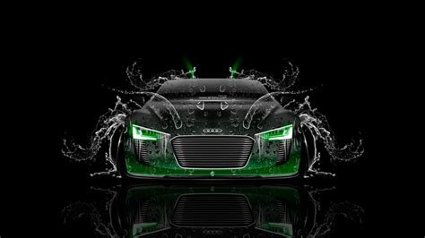 Top 10 Car Wallpaper 2017 Desktop Calendar by Audi E Spyder Front Water Car 2014 Green Neon Hd