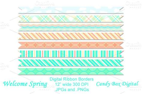 Welcome Spring Digital Ribbons   Welcome spring, Spring ...
