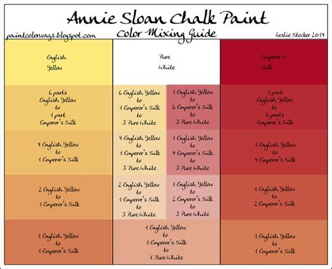 sloan chalkpaint mix to make new colors many