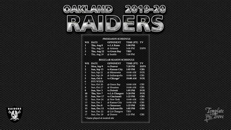 oakland raiders wallpaper schedule