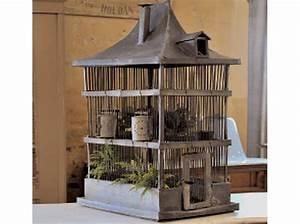 Cage Oiseau Deco : cage oiseau bois deco ~ Teatrodelosmanantiales.com Idées de Décoration