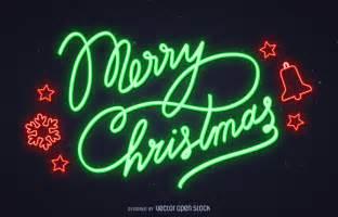 neon merry sign vector