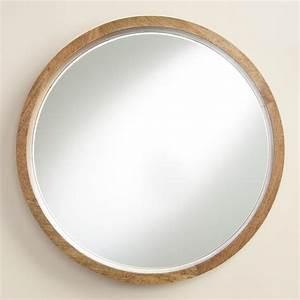Natural Wood Round Evan Mirror World Market