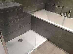 faience noire salle de bain 15 salle de bain avec With salle de bain avec douche et baignoire