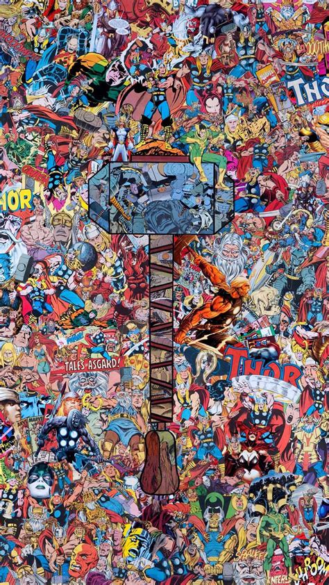 Join the fun convo with 9gag community. Marvel Thor Collage Phone Tablet Wallpaper / Credit to Creator | Papel de parede marvel, Papel ...