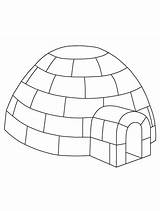 Igloo Coloring Printable Craft Winter Colouring Jumbo Yahoo Preschool Built Template Alphabet Penguin Drawing Ice Crafts Letter sketch template