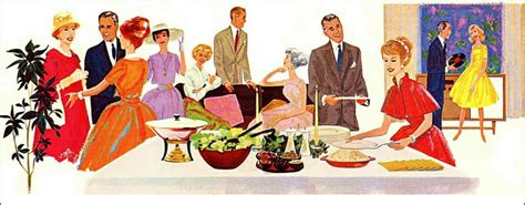 vintage cocktail party clipart 5 tips for a better dinner party cooking with care