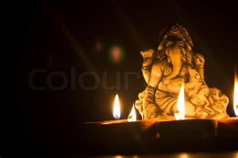 lord ganesha with light ls stock photo colourbox