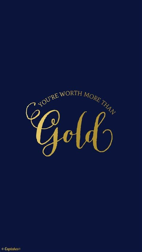 Gold Lock Screen Wallpaper Iphone by Simple Blue Gold Quote Iphone Wallpaper Lock Screen