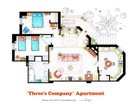 a floorplan 10 of our favorite tv shows home apartment floor plans