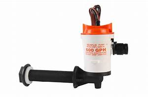 Pump Factory Seaflo 12v Angled 600gph Submersible Livewell