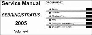 2005 Sebring Sedan  U0026 Convertible  Stratus Sedan Repair