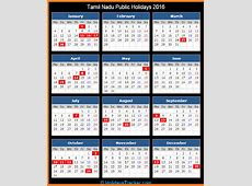 Tamil Nadu India Public Holidays 2016 – Holidays Tracker