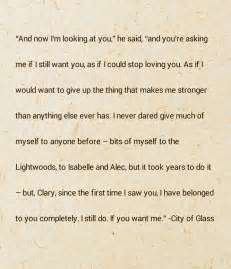 City of Glass Mortal Instruments Quotes