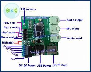 Diy Bluetooth 4 0 Stereo Audio Receiver Board Wireless Sd  Tf Mp3 Player Fm Radio In 2019
