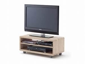 Tv Lowboard Mit Rollen : jaap tv lowboard eiche s gerau mit rollen ~ Bigdaddyawards.com Haus und Dekorationen
