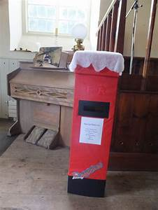 this is a special santa delivery post box made for the With letters to santa post box