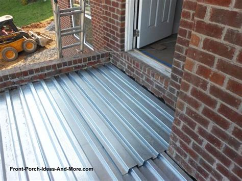 corrugated steel decking for concrete concrete porch floor construction made easy