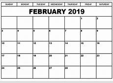 2019 Calendar Monthly Printable Exceptional vitafitguide