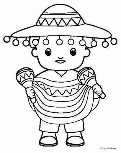 Mayo Cinco Coloring Pages Hispanic Mexican Mexico