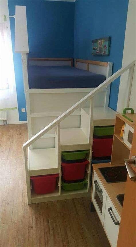 Regal Als Treppe Nutzen by Das Ikea Trofast Regal Als Treppe F 252 Rs Kura Hochbett