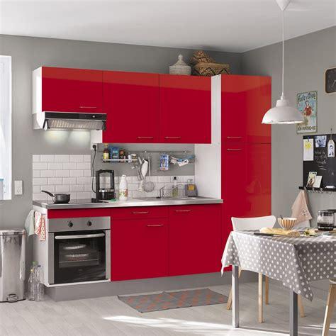 facade meuble cuisine lapeyre cuisine équipée brillant l 240 cm électroménager