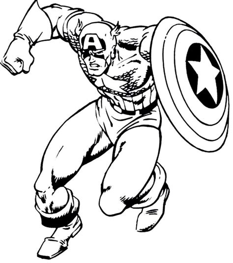 captain america coloring page  coloring pages