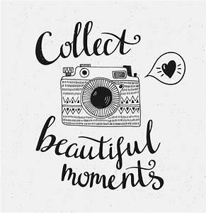 Schöne Momente Bilder : retro fotokamera mit stilvoller beschriftung sammeln sie sch ne momente vektorhand ~ Orissabook.com Haus und Dekorationen