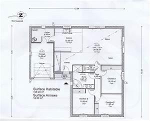 plan maison plain pied 110m2 avie home With plan maison en l 100m2 8 plan pour maison plain pied entre 100 et 110m2 370