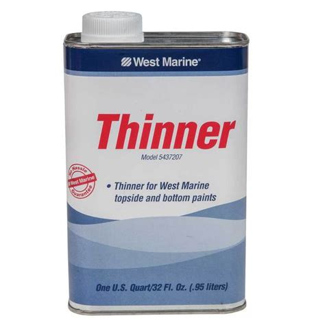 West Marine Thinner & Dewaxer, Quart  West Marine
