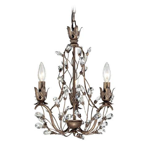mini bronze chandelier mini chandelier in bronze rust finish 18142 3
