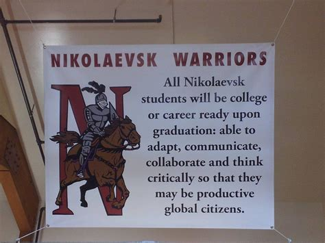 nikolaevsk school home warriors