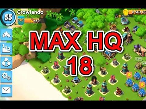 foto de Upgrade HEADQUARTERS to level 17 Boom Beach Doovi