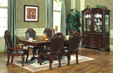 China Cabinet And Dining Room Set by Chateau Traditional 9 Formal Dining Room Set Table