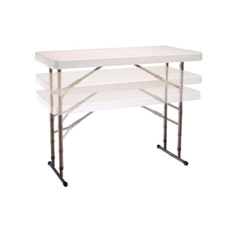 lifetime 4 ft table lifetime 4 ft commercial adjustable height folding table