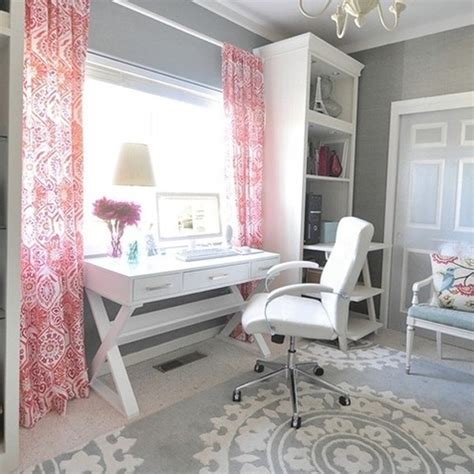 pink home office 17 pink office ideas with wooden furniture