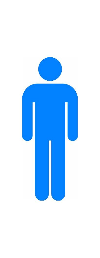 Symbol Person Clip Boy Toilet Stick Washroom