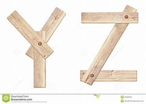 old wooden alphabet letters made of wood planks With letters made of wood