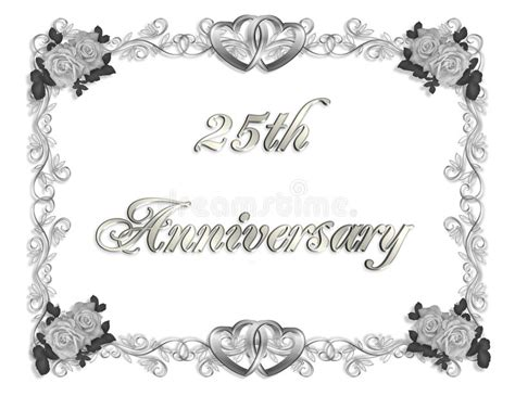 25th Anniversary Invitation 3D Stock Illustration