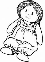 Coloring Doll Pages Printable sketch template