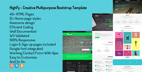 eastern creative multipurpose template zip highfy creative multipurpose bootstrap template nulled