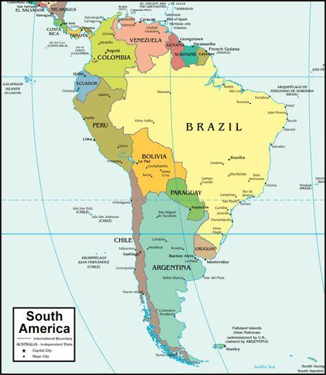 south america map  satellite image