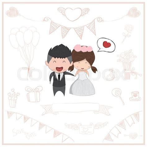 Cute Men Templates by Cute Cartoon Wedding Couple Men And Women Card Cute