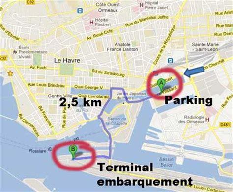 comment se rendre et ou garer sa voiture dans le port croisi 232 re du havre