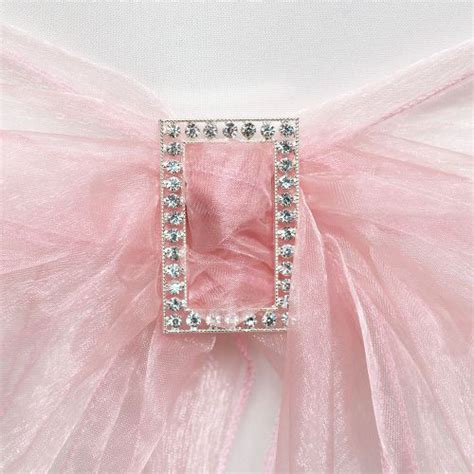 Diamante Chair Sash Buckles by 10 Diamante Rectangle Large Chair Sash Buckle Favour