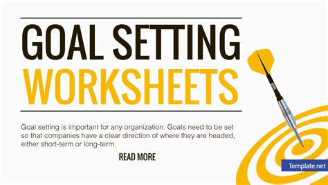 goal setting worksheet templates  word excel