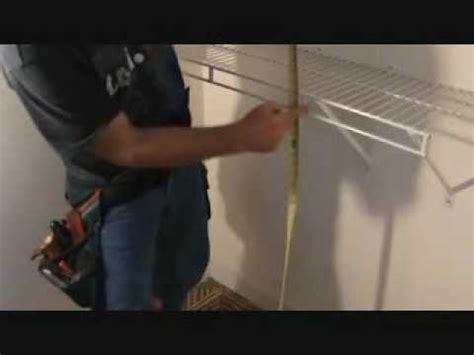 installing prefinished wire closet shelves measure