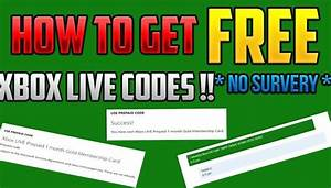 How To Get Free Xbox Live Codes Xbox Live Gold