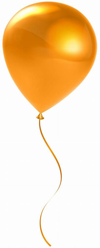 Balloon Orange Transparent Single Clip Clipart Balloons